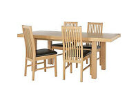 Franklin Extendable Dining Table-4 Chocolate Paris Chairs.