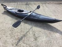 Sit inside Touring Kayak with Rudder, Paddle and Spraydeck