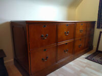 Solid Yew 8 Drawer Filing cabinet