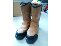 SITE Gravel Rigger Safety boots Size 10 leather in Tan