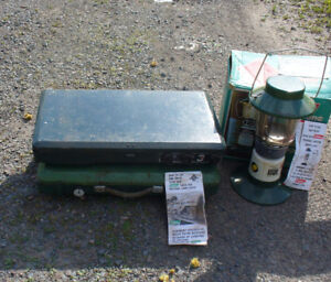 Coleman camping stoves and light