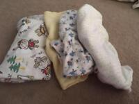 Selection Of 0-3 Month patterned sleepsuits