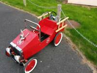 Classic Red Pedal Fire Engine