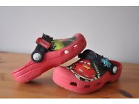 Cars, Lightning McQueen Crocs size 10-11 infant boy