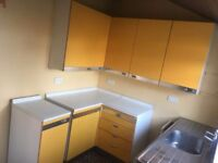 Retro/ Vintage Yellow And Chrome Complete Kitchen 1950s/60s