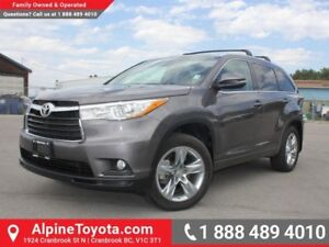 2015 Toyota Highlander LIMITED  Limited - Pano Sunroof - Remote