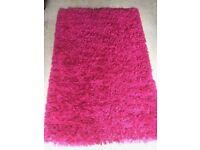 Dark Pink Shaggy Rug