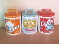 1950s RETRO CERAMIC TEA COFFEE SUGAR SET BNWOT