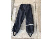 Black waterproof over trousers size 5-6