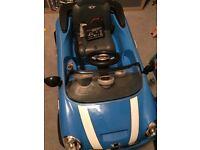 Blue Mini Cooper 6v battery operated car