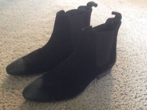 brand new black suade 1/2 boots