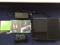 xbox one 500 gb, two games, one pad and all cables, free delivery available