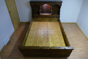 BED HEADBOARD WIT 6 DRAWERS