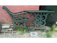 Cast iron table and bench ends