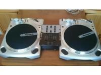 Numark DJ decks plus mixer