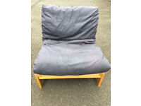 John Lewis single futon with Navy blue cover