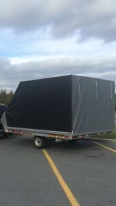Galvanized Utility Trailer with Canopy 8.5x10