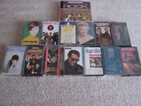 14 AUDIO CASSETTE TAPES - VARIOUS ARTISTS. WITH CARRYING CASE. A BARGAIN AT £10