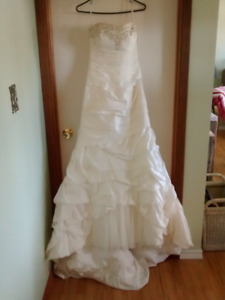 Ivory and silver size 6 dress