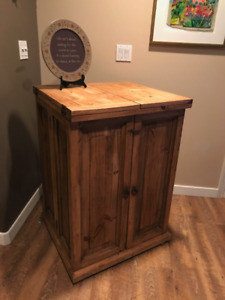 Custom Made Foldout Wine Cabinet REDUCED!!!