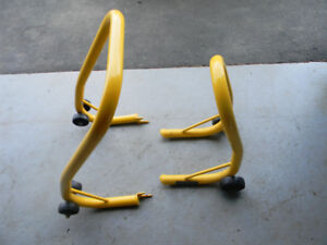 FRONT AND REAR BIKE STANDS GREAT FOR CLEANING TIRES