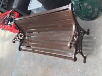 Traditional 4ft Garden Bench with Cast Iron Ends