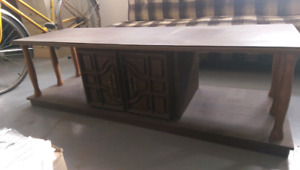 Coffee table with two end tables