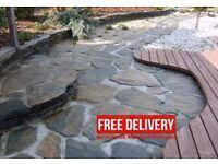 Slate stones, slabs, patio, driveway natural stone