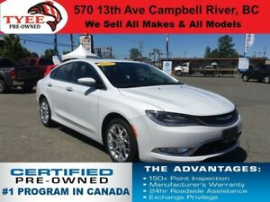 2015 Chrysler 200 C AWD Navigation Leather Seats Sunroof