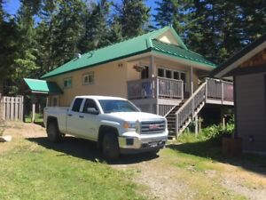 House and large shop located at beautiful knouff lake BC!
