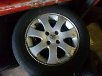 Peugeot alloy wheels I cluding tyres