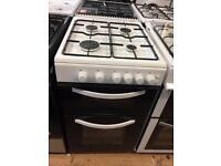 #10 New Ex-Display Logik LFTG50W16 White 50cm Gas Cooker £199