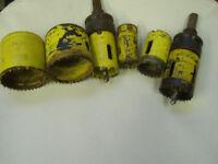 ELECTRICIAN RETIRING STARRETT HOLE CUTTERS