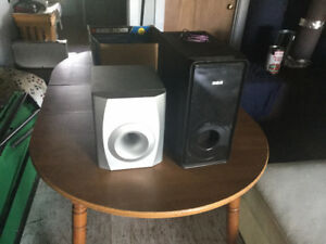 2 Subs and Speakers