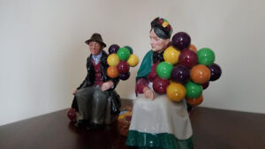 Royal Doulton balloon lady and balloon man