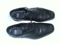 MENS SMART BLACK DRESS SHOE, CLARKS FLEXLIGHT SZ 8 1/2 G