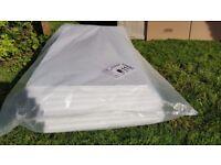 8x Large White Rigid Polystyrene Foam Sheets Boards Slabs - Size L1200mm x W600mm x H25mm
