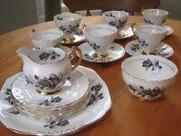 Vintage Royal Imperial Bone China 6 Piece teaset