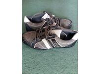 Stylish black grey cream leather size 9 brand new