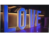 LED Multi-choice coloured LOVE letters