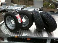 Trailer wheels tyres brakes ifor Williams nugent hudson