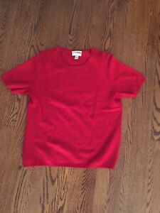 Cashmere red sweater. Size small