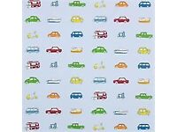Boys vehicle Curtains - Harlequin go go retro
