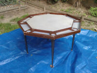 Poker Table Octagon 8-Player with Folding Legs ##FREE LOCAL DELIVERY##