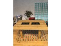 Large handmade dining table for sale
