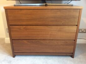 Dark wood used chest of drawers