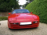 Porsche 944 2.5 lux coupe in red