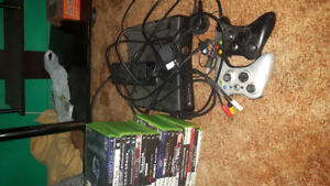 250gb xbox360 and 16 games
