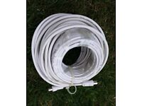 TV Coax coaxial cable – white.