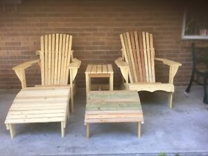 Wooden Muskoka  Chairs.